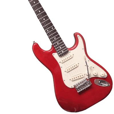 Oscar Schmidt OS-30-MRD Double Cutaway 3/4 Size Mahogany Neck S-Type 6-String Electric Guitar