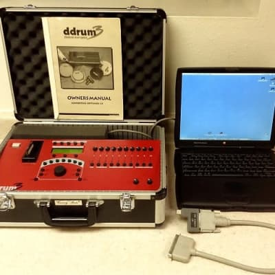 ddrum3 Electronic Drum Module #1 + Storage Case, Link Cable, Sample Library & MacBook Laptop