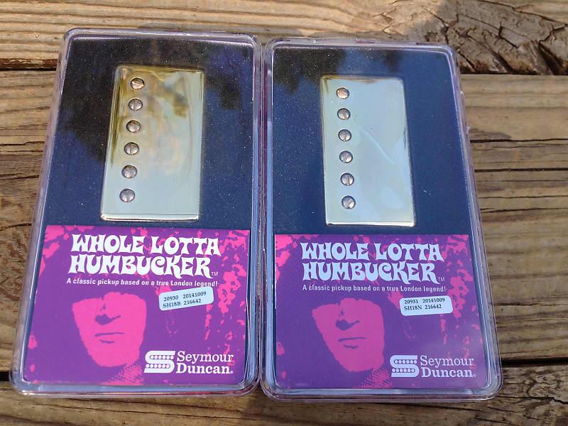 Seymour Duncan SH-18 Whole Lotta Humbucker Gold Set FREE FENDER GUITAR CABLE