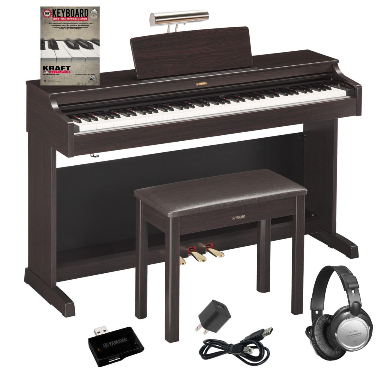 yamaha arius ydp 163 digital piano dark rosewood complete reverb. Black Bedroom Furniture Sets. Home Design Ideas