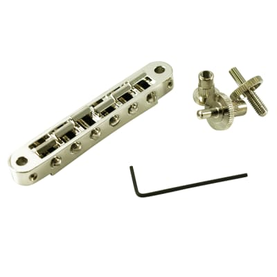 TonePros TP6-N Standard Tune-O-Matic Bridge With Small Posts - Nickel
