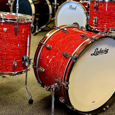 Ludwig Classic Maple 3pc Shell Pack in Mod Orange Drumset 13/16/22