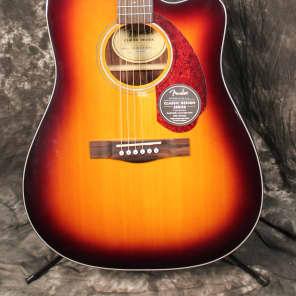 Fender Classic Design Series CD-140SCE Cutaway Dreadnought Acoustic-Electric Guitar Sunburst w/Case for sale