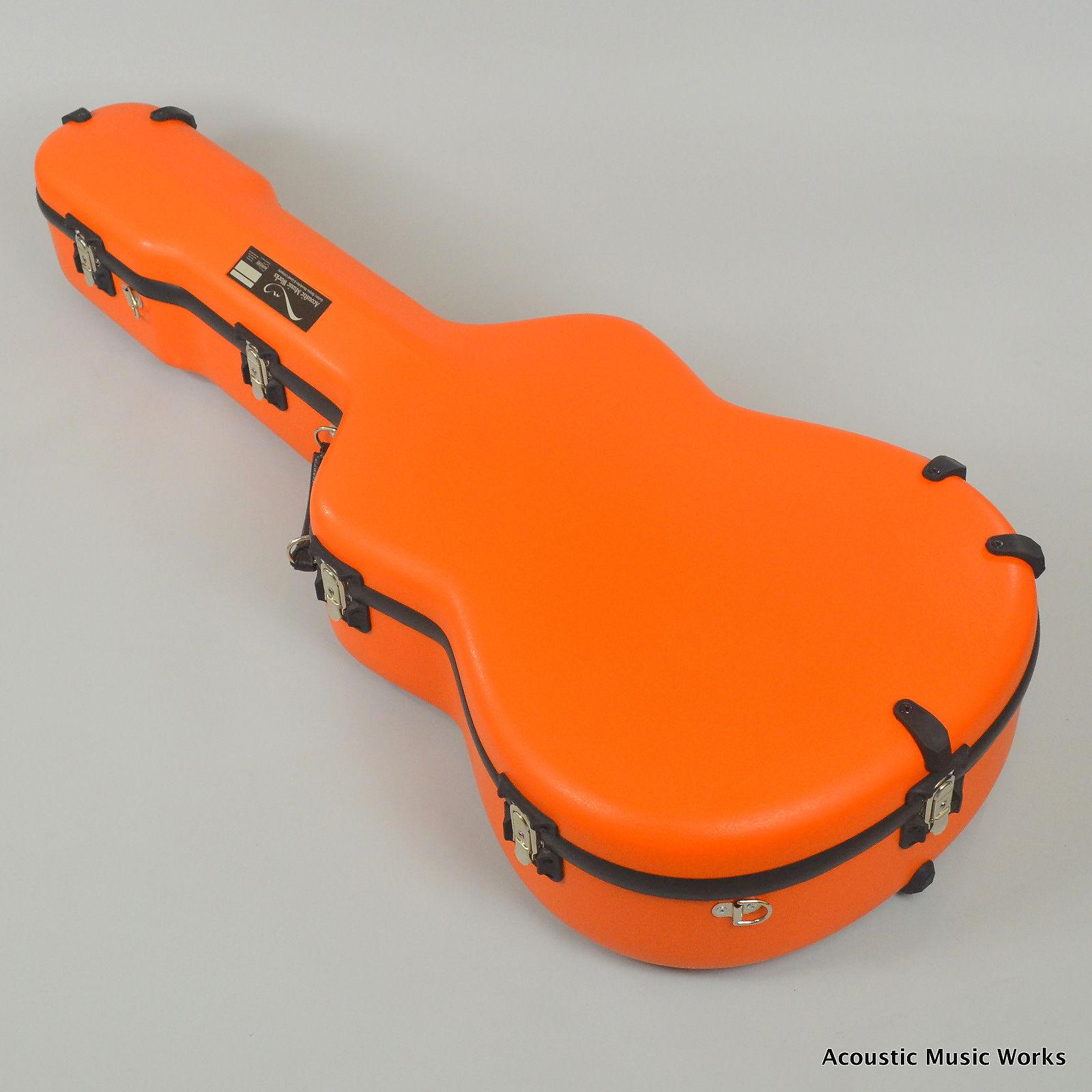 Calton Cases Dreadnought Flight Case Orange Black Interior Fits