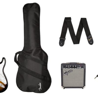 Squier 0371823032 Stratocaster Pack, Laurel Fingerboard, Brown Sunburst, Gig Bag, 10G - 120V  2019 for sale