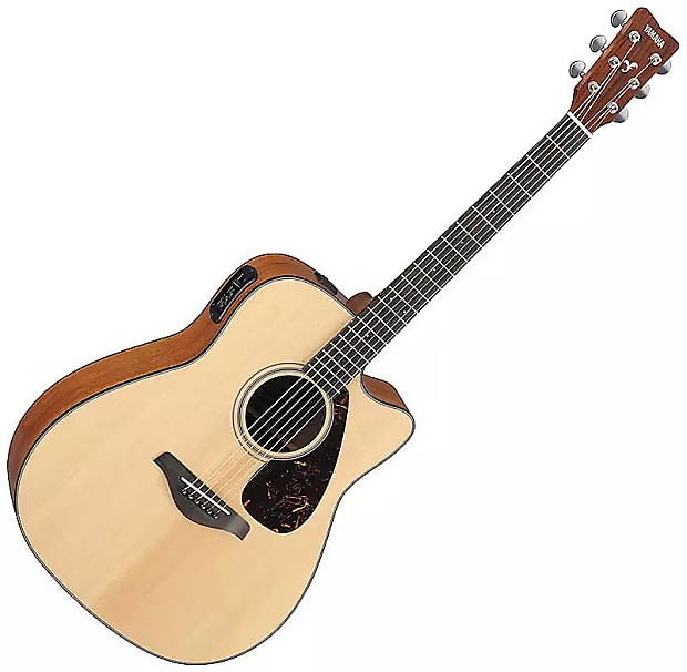 yamaha fgx700sc solid top cutaway acoustic electric guitar reverb. Black Bedroom Furniture Sets. Home Design Ideas