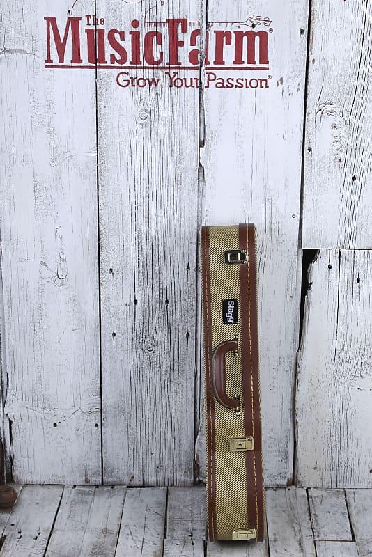 Stagg GCX-UKC GD Gold Tweed Plush Lined Concert Ukulele Hardshell Case