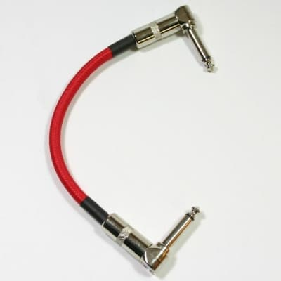 """Strukture 6"""" patch cable Right angle ends, Red Woven"""