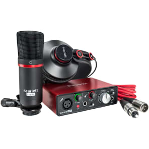 Focusrite Scarlett Solo (2nd Gen) Studio Bundle w/ Headphones, Mic and Cable