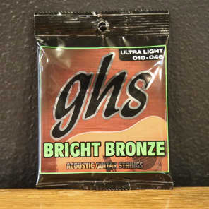 GHS BB40M Bright Bronze 80/20 Medium Acoustic Guitar Strings 13-56