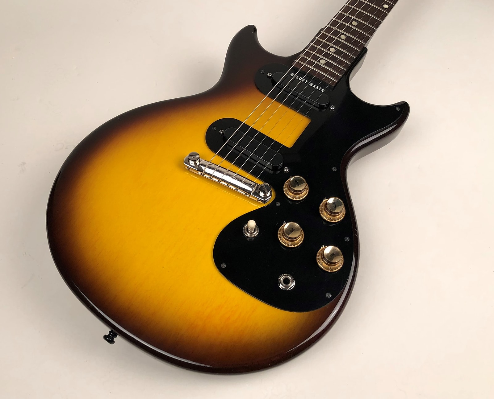 Clean One Owner 1961 Gibson Melody Maker D in Sunburst with Original Brown Case