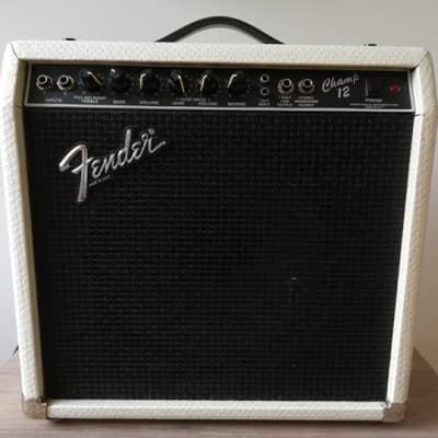 Fender Champ 12 Tube 1987 White Reptile Skin for sale