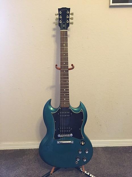 aff4373d6 Gibson SG Special 2001 Blue Teal flip flop