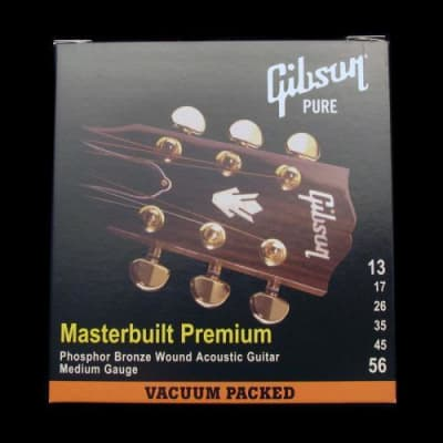 Gibson Masterbuilt Premium Acoustic Strings (Medium 13-56) for sale
