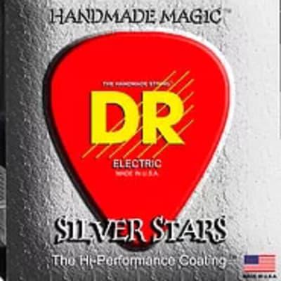 DR SIB45 Silver Stars Bass 4 Strings .045 -.105