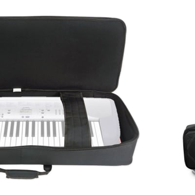 Rockville BEST BAG 49 Padded Rigid Keyboard Gig Bag Case for Casio CTK-230