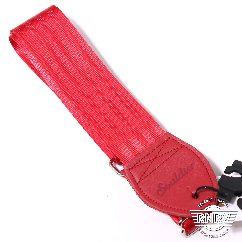 Souldier Plain Seat Belt - Red
