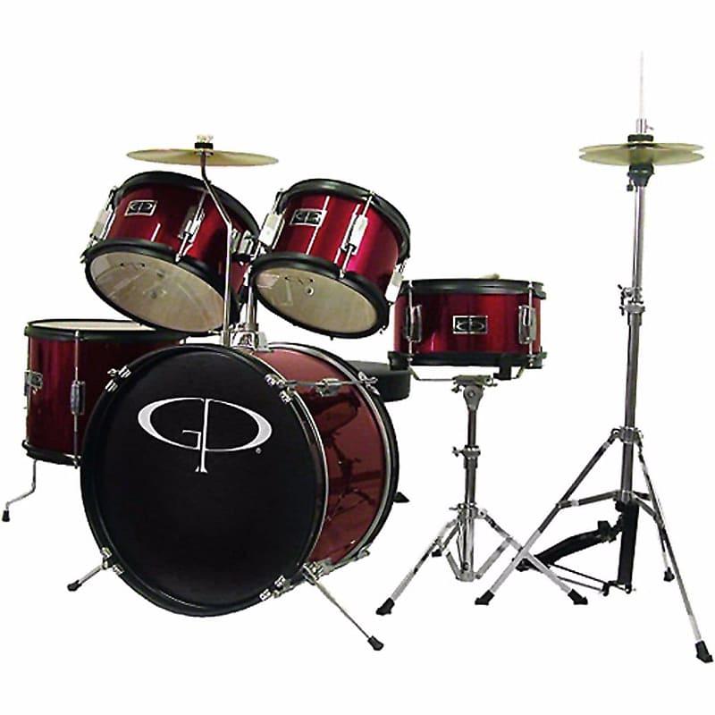 new gp percussion gp55wr 5 piece junior drum set with reverb. Black Bedroom Furniture Sets. Home Design Ideas