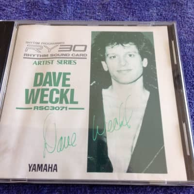 """Yamaha RSC3071 """"Dave Weckl"""" Artist Series PCM Card for RY-30/RM-50 • Excellent Condition • RARE"""