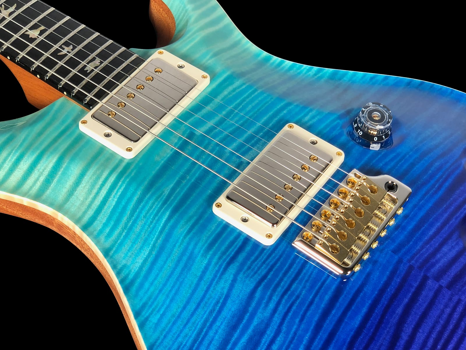 2018 Paul Reed Smith Custom 22 Wood Library Artist Package w Ebony Board ~ Blue Fade
