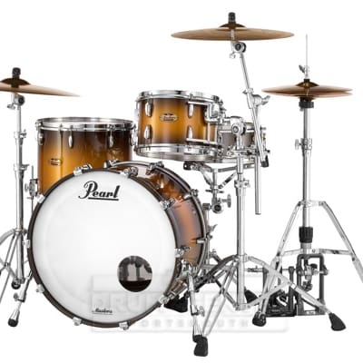 Pearl Masters Maple Complete 3pc Drum Set 24/13/16 Satin Natural Burst
