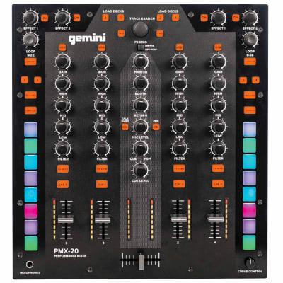 Gemini PMX-20 4-Channel Battle-Ready Performance Hybrid Digital DJ Scratch Mixer