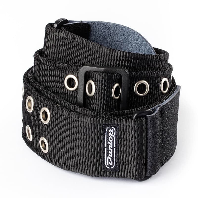 New Dunlop Black Grommet Heavy Metal Guitar Strap For Guitar Reverb
