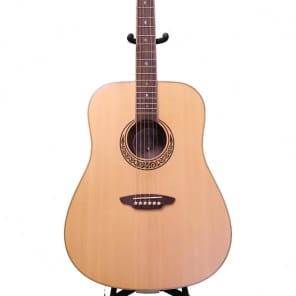 Luna Muse Series Satin Dreadnought Acoustic Guitar - Natural, MUS DN M SATIN for sale