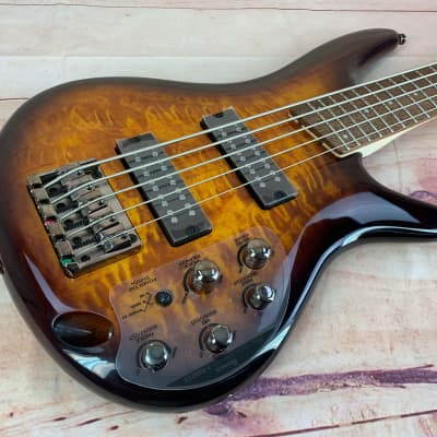 Ibanez SR405EQM 5 String Electric Bass Active Electronics, Dragon Eye Burst