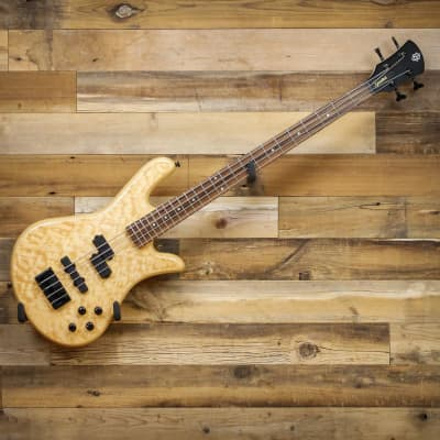 Spector LG4CLSAMNAT Legend 4 Classic 4-String Electric Bass Guitar in Natural Flame Maple Bartolini Pickups for sale
