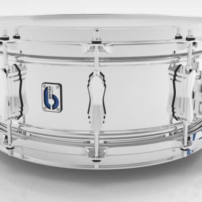 "British Drum Company BB-1460-SN 14 x 6"" Bluebird Snare, Double-Beaded Brass Shell, Chrome Plating"