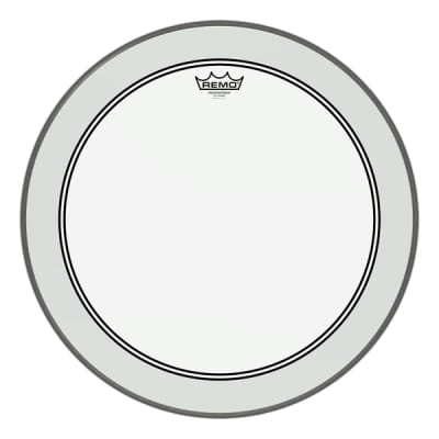 """Remo 24"""" Clear Powerstroke 3 Drumhead"""
