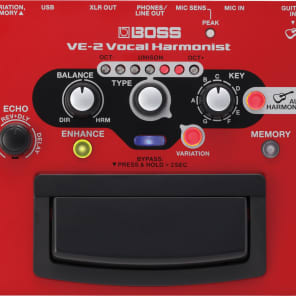 Boss VE-2 Vocal Harmonist Effects Processor