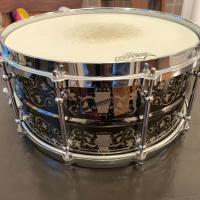 "Ludwig LW6514ANV 100th Anniversary Black Magic 6.5x14"" Engraved Brass Snare 2009"