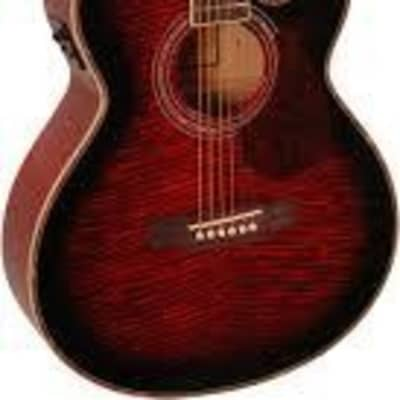 freshman fa1awr red electro acoustic for sale