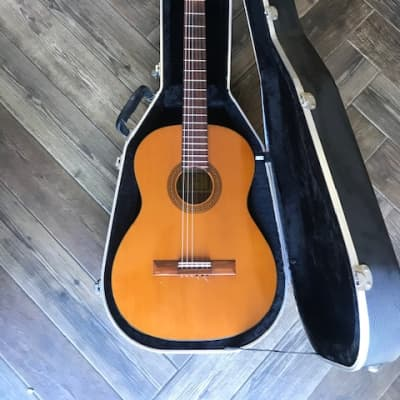 Aria Japanese made classical guitar and hard case for sale