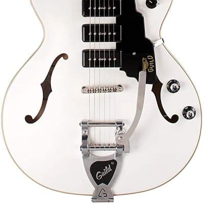 Guild Starfire I Jet 90 Satin White - Semi Hollow Body Electric Guitar