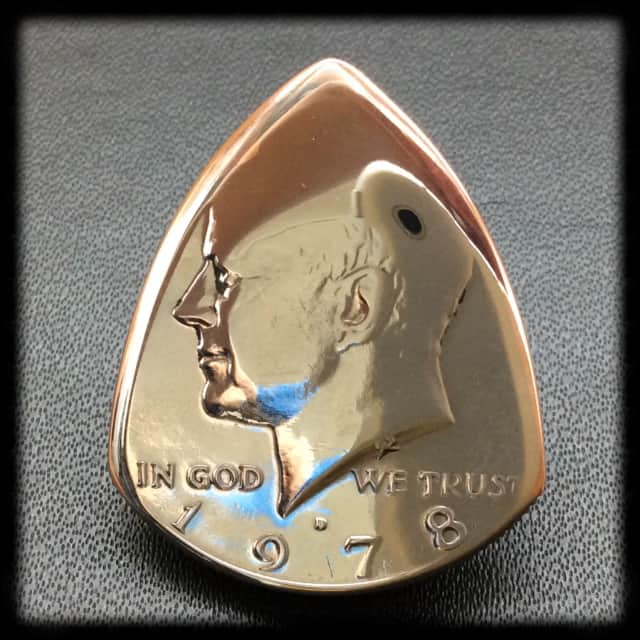 1978 Kennedy USA Half Dollar Coin Plectrum / Guitar Pick. image