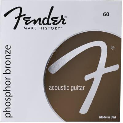 Fender 60CL Custom Light .011 - .052 Phosphor Bronze Acoustic Guitar Strings for sale