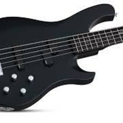 Schecter Johnny Christ-5 Satin Black Bass Guitar for sale