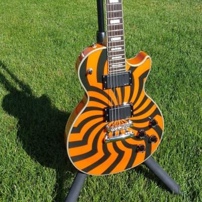 Epiphone  Les Paul Custom Zakk Wylde Buzzsaw 2005 Buzzsaw Orange w/ SKB Case for sale