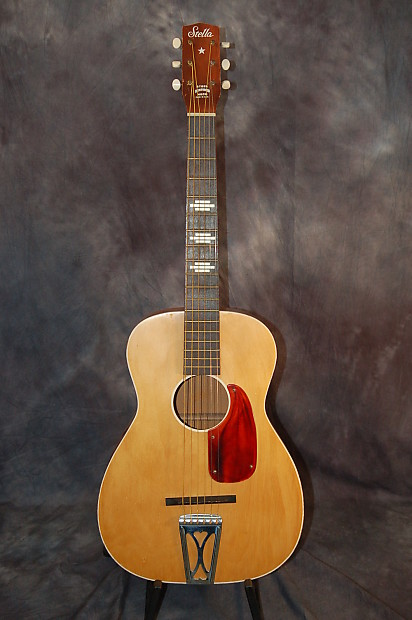 harmony stella 3 4 parlor guitar model h927 1965 blond reverb. Black Bedroom Furniture Sets. Home Design Ideas