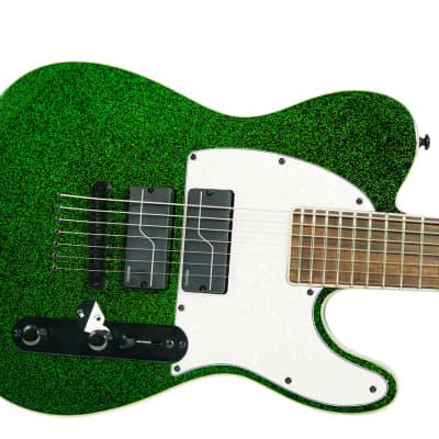 ESP LTD SCT-607 Baritone Stephen Carpenter 7-String Guitar Green Sparkle w/ Case for sale