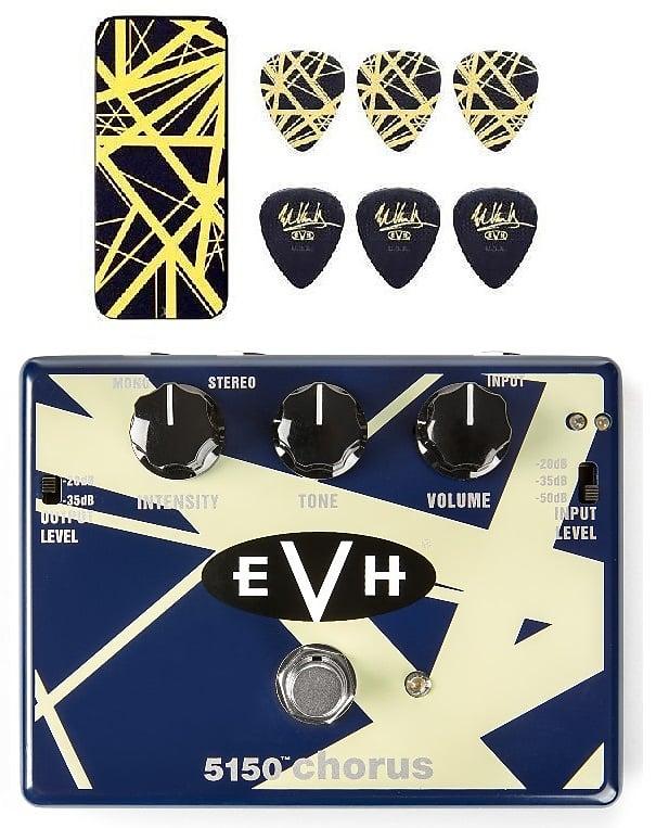 c0dd01921a9 MXR Dunlop EVH 5150 Stereo Chorus Pedal EVH30 Eddie Van Halen ( Black    Yellow Stripes Pick Tin )