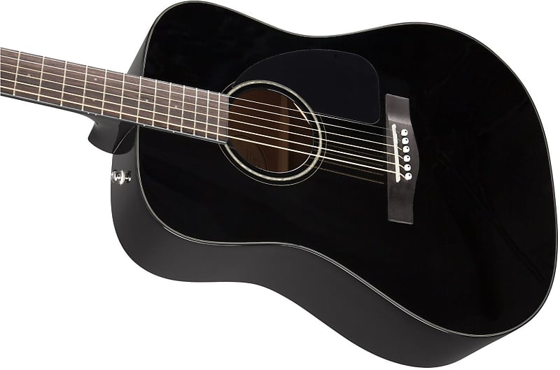 fender cd 60 dreadnought v3 w case walnut fingerboard black reverb. Black Bedroom Furniture Sets. Home Design Ideas