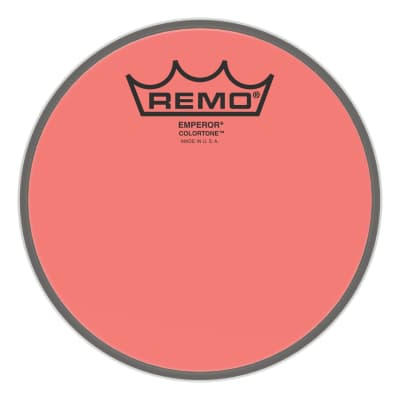 "Remo - 6"" Emperor Colortone Red Drumhead - BE-0306-CT-RD (Please allow 6-8 weeks for delivery)"