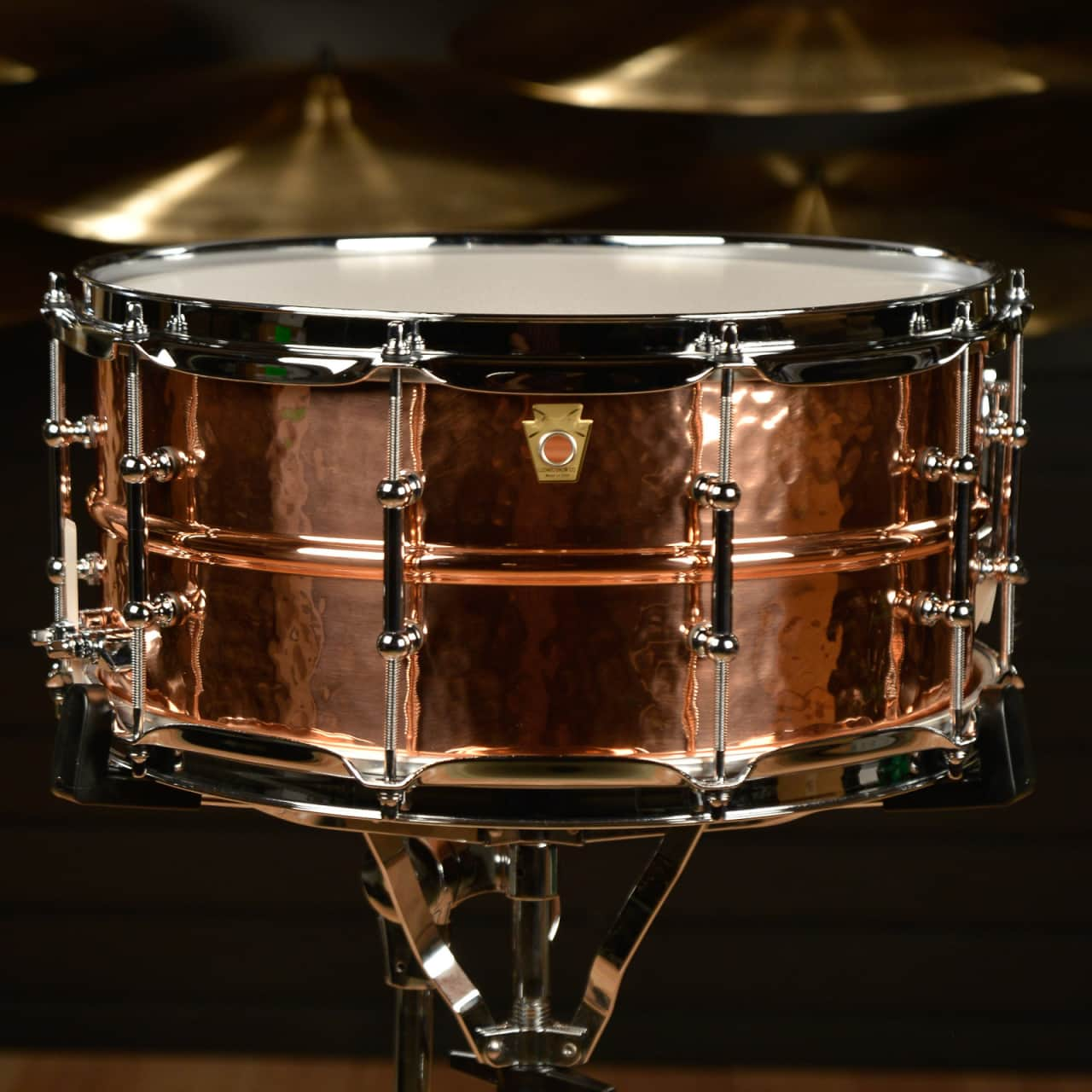ludwig hammered copper snare drum w tube lugs reverb. Black Bedroom Furniture Sets. Home Design Ideas