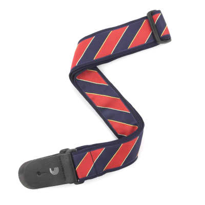 """D'Addario/Planet Waves 2"""" Tie Stripes Guitar Strap, Blue & Red - Blue & Red / New"""