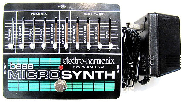 electro harmonix ehx bass microsynth analog micro reverb. Black Bedroom Furniture Sets. Home Design Ideas