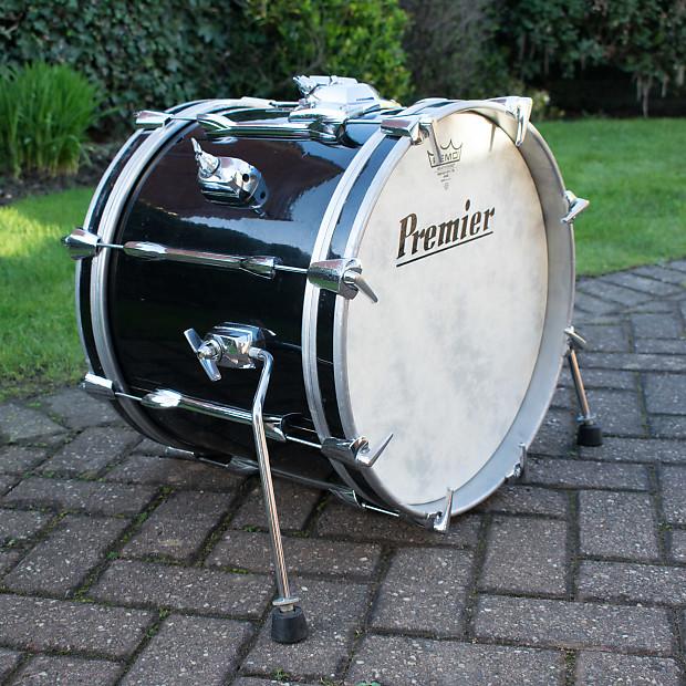 vintage 1970s premier 18 x 14 black mahogany bass drum for reverb. Black Bedroom Furniture Sets. Home Design Ideas